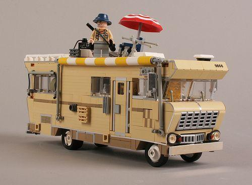 For Sir Meowington-walking dead legos- dale's camper-lol