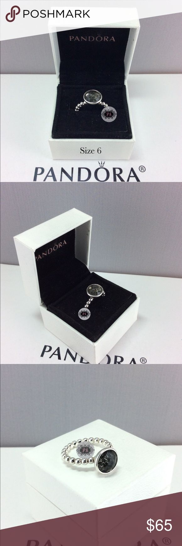 Pandora Retired Dark Enchantment Ring Authentic Pandora Retired Dark Enchantment, tourmalinated quartz Ring  Pandora Charms. Pandora New Charms. Pandora Retired Charms. Pandora Bracelets.  Signature markings Ale S925  Condition: Gently used   Retail: Market   🔵PRICE IS FIRM UNLESS BUNDLED  ⚫️NOT ACCEPTING LOWBALL OFFERS!!! 📦BOX INCLUDED IN THE SALE Pandora Jewelry Rings
