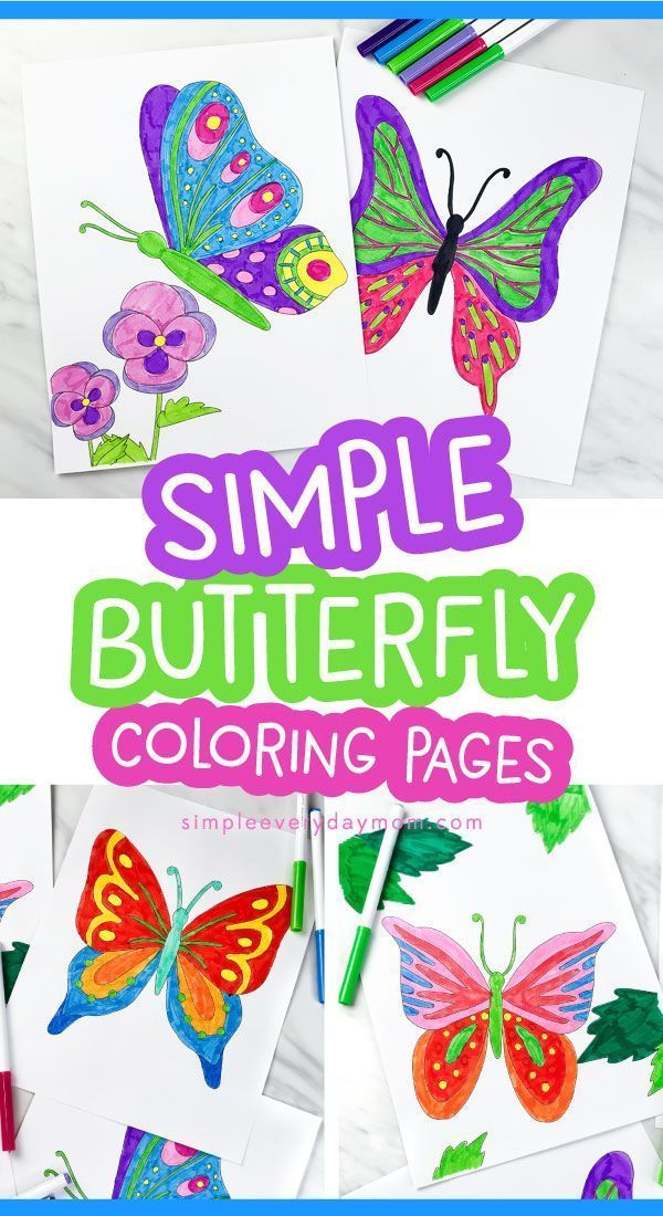 Printable Butterfly Coloring Pages For Kids Butterfly Coloring Page Summer Coloring Pages Spring Crafts For Kids