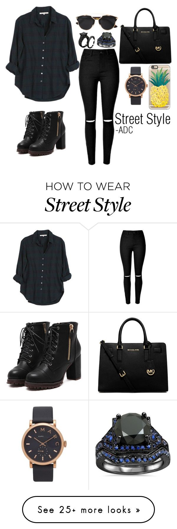 """Street Style"" by anatiller on Polyvore featuring Xirena, MICHAEL Michael Kors, Christian Dior, Casetify and Marc Jacobs"