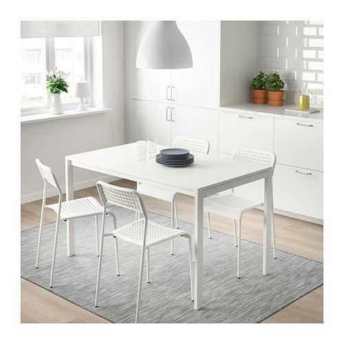 a3fc471a0384b IKEA MELLTORP ADDE table and 4 chairs Seats 4.
