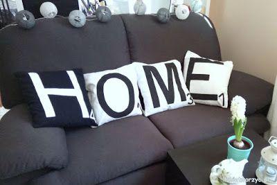 Oryginalne, handmade'owe poszewki na poduszki w scrabble'owym stylu ;) Instrukcja już dostępna na blogu :)  #poduszka #poduszki #poszewka #poszewki #pillow #pillows #pillowcase #home #dom #napis #litery #letters #dekoracje #decorations #ozdoby #homesweethome #homedesign #homedecor #diy #zróbtosam #poradnik #tutorial #jakzrobić #howto #sposóbwykonania #instrukcja #instruction #craft #crafts