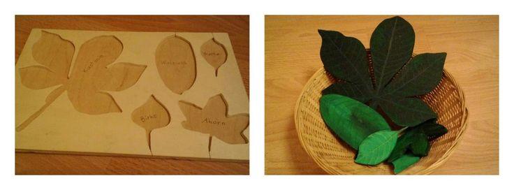 Montessori, Blätter Puzzle, Leaf Puzzle, Herbst, autumn