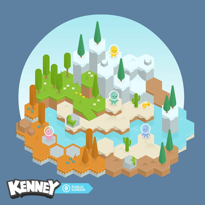 Hexagon tiles for your hexagon games! Includes everything you see in the sample image, including trees, bushes, details and players. If you have any questions or requests don't hesitate to comment!Includes:Seperate PNG sprites (93x)Spritesheets (6x)Vector files (SWF and SVG)---