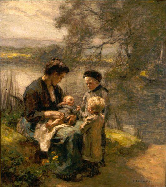 Μητέρα με μωρό και δυο παιδιά  Μουσείο Σαιντ Λούις στο Μιζούρι των Η.Π.Α.