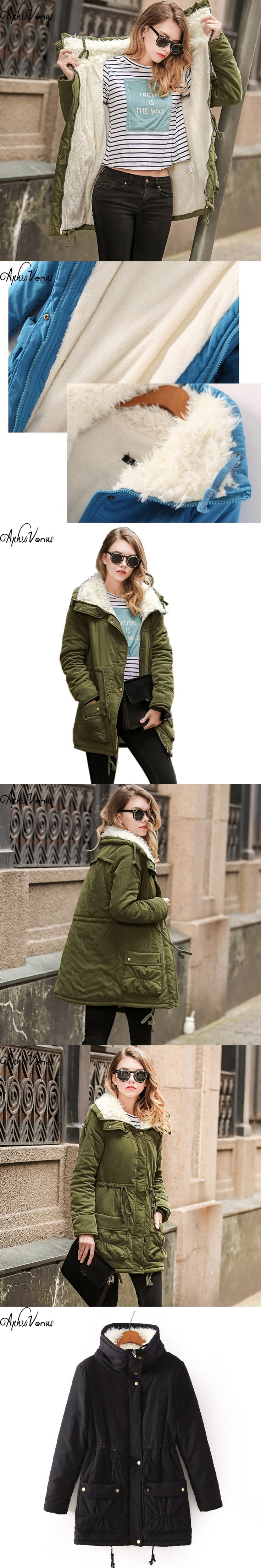 Winter Jacket Women 2017 Womens Parkas Casual Out Wear Military Solid Coat long Femme Army Green Clothes Lady Warm Coat