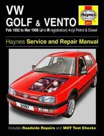 VW Golf and Vento Service and Repair Manual (Haynes Service and Repair Manuals)