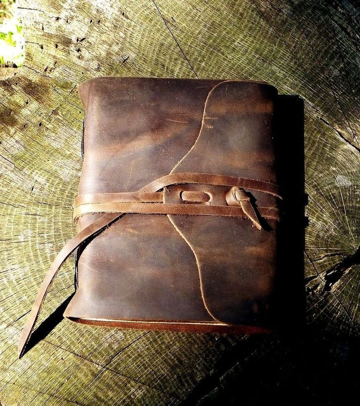 RUSTIC - STURDY TRAVEL JOURNAL with HANDMADE Paper - Chocolate Brown - Leather