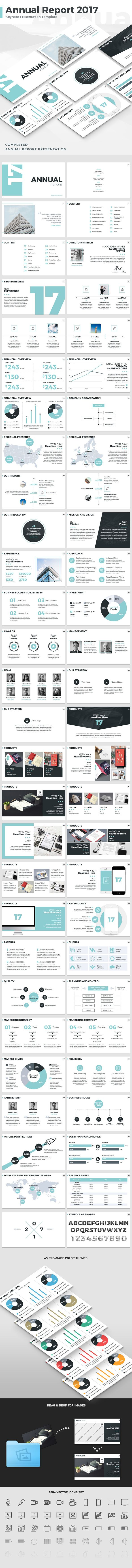#Annual #Report 2017 - Keynote Template - #Keynote #Templates #Presentation Templates Download here: https://graphicriver.net/item/annual-report-2017-keynote-template/19075912?ref=alena994