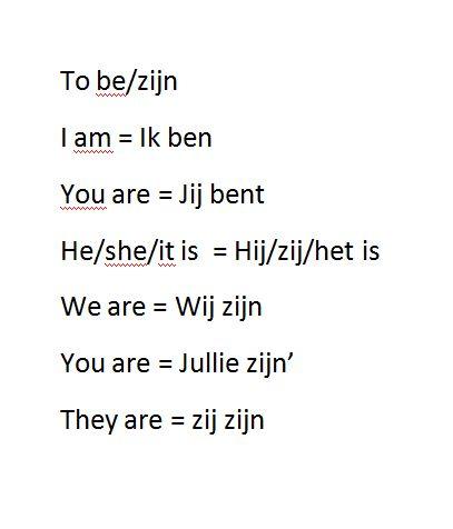 verbs/to be werkwoorden/zijn