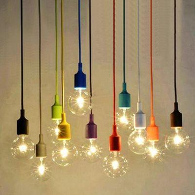 Lámparas colgantes coloridas, con bombillos E27 Edison vintage, para restaurantes
