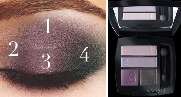 Avon - Eyeshadow Quad - 4 step This is the Purple Haze Eyeshadow Quad. (product #697-306)