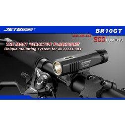 JETBeam BR10 USB Rechargeable Bike Light - 900 Lumens (Black)