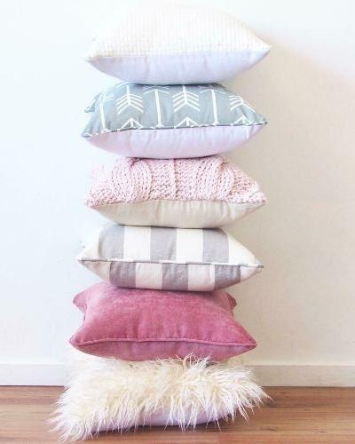 almohadones nordicos, escandinavos, piel sintetica