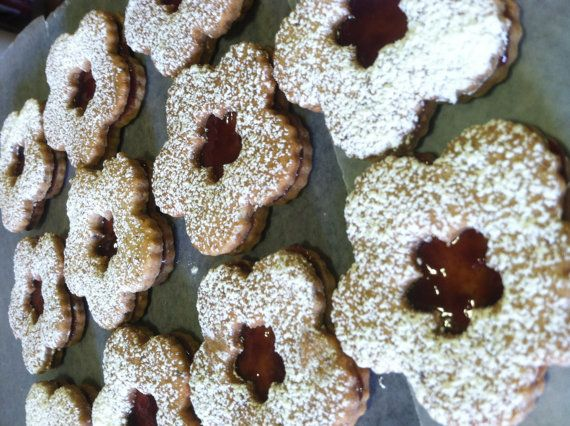 Melt In Your Mouth Linzer Cookies by UniquelyAwesome on Etsy, $20.25