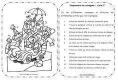 Lire et comprendre les consignes (fin CP)