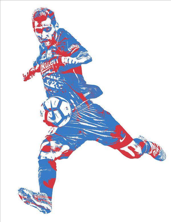 Lionel Messi F C Barcelona Argentina Pixel Art 2 Art Print