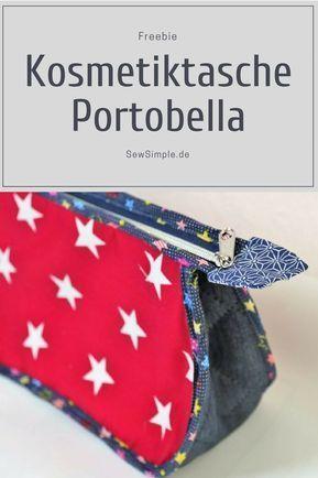 Padrão de costura: Costurar em saco de cosmética Portobella   – Nähen Taschen + Accessoires