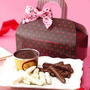 バレンタインデー 人気チョコレートスイーツ3種セット (バレッタ色ピンク)