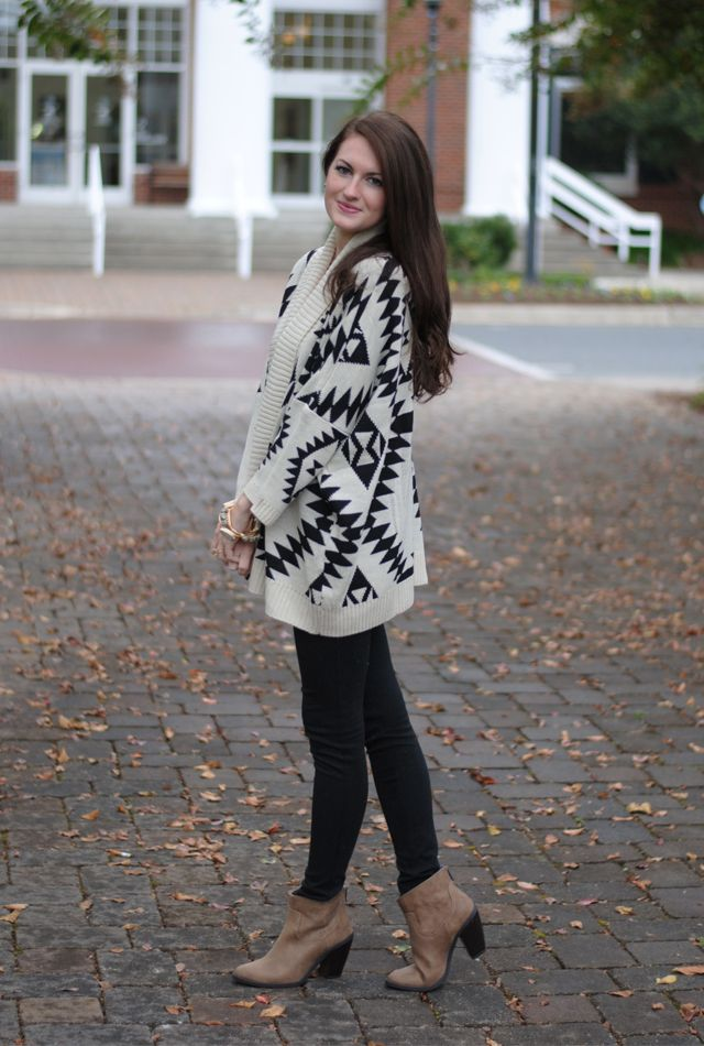 Aztec Sweater from LaMaLu.com on Caitlin from Southern Curls and Pearls