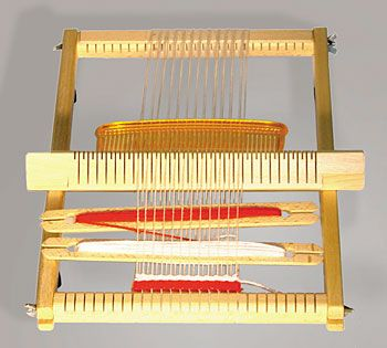I love these German children's looms with the heddle bar. I want one for my kids--and for me!