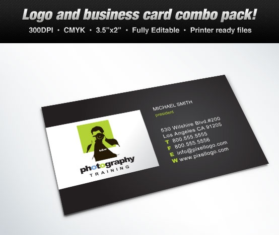 Business card photography training concept #design