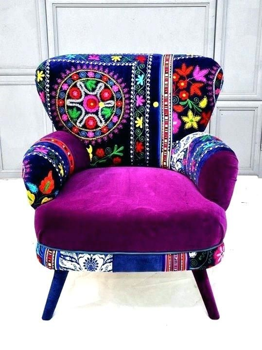 Bohemian Chair Love Vibrant Furniture And Its A Lot Of Purple Boho Style Chairs Chic Uk Diy