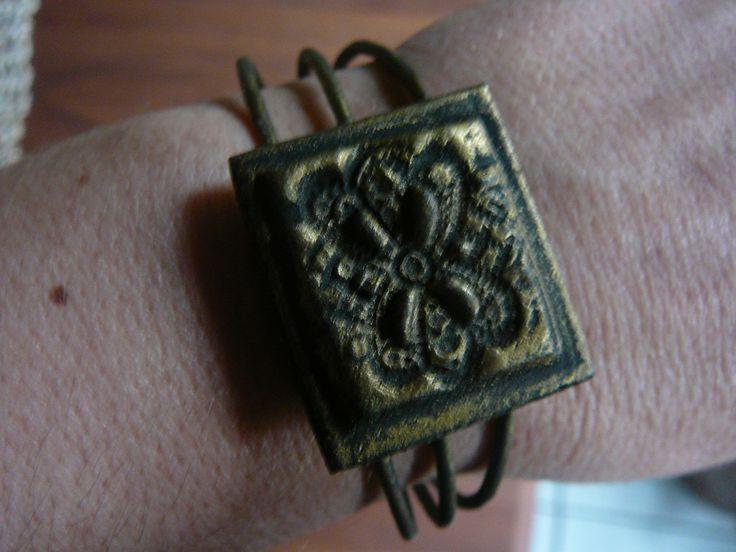 vintage porcelain clay bracelet