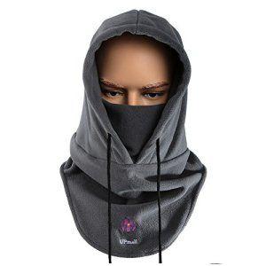 upmall® Multifonction utilisation Passe-montagne en polaire thermique hiver chaud Ski Vélo Masque complet Cache-cou coupe-vent pour…
