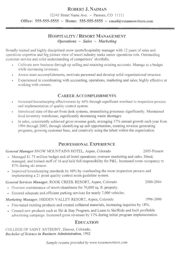 Resume Sample Resume For Hospitality Coordinator 9 best hospitality resume templates samples images on pinterest and job interviews