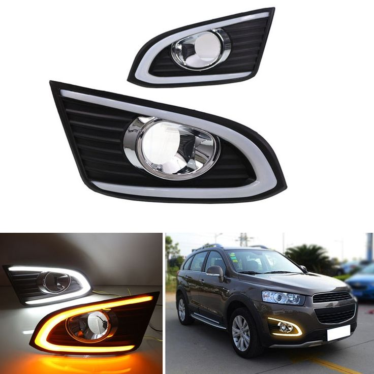 106.00$  Buy now - http://aliyy2.worldwells.pw/go.php?t=32777868185 - Turn Signal 12V Car LED DRL Daytime Running Lights With Fog Lamp Cover For CHEVROLET CHEVY CAPTIVA 2014 2015 2016