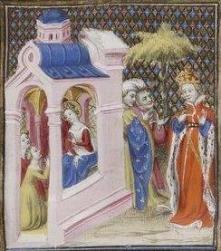 Giovanni Boccaccio, De Claris mulieribus; Paris Bibliothèque nationale de France MSS Français 598; French; 1403, 145r. http://www.europeanaregia.eu/en/manuscripts/paris-bibliotheque-nationale-france-mss-francais-598/en