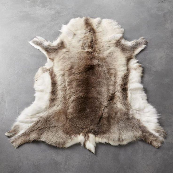 Shop Reindeer Hide Rug 3u0027x5u0027. Indigenous People Of Northern Finland Raise  Herds