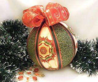 Aprende cómo hacer esferas navideñas con retazos de tela ~ Mimundomanual