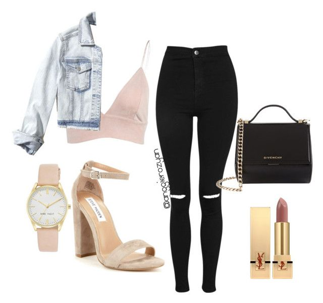 Pink top jeans by anggierozyan on Polyvore featuring polyvore, fashion, style, Hollister Co., Topshop, Steve Madden, Givenchy, Nine West, Yves Saint Laurent and clothing
