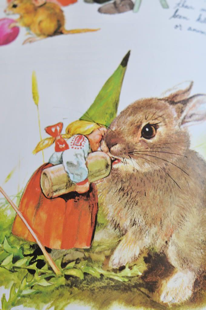 Rien Poortvliet  gnome fairy rabbit bottle