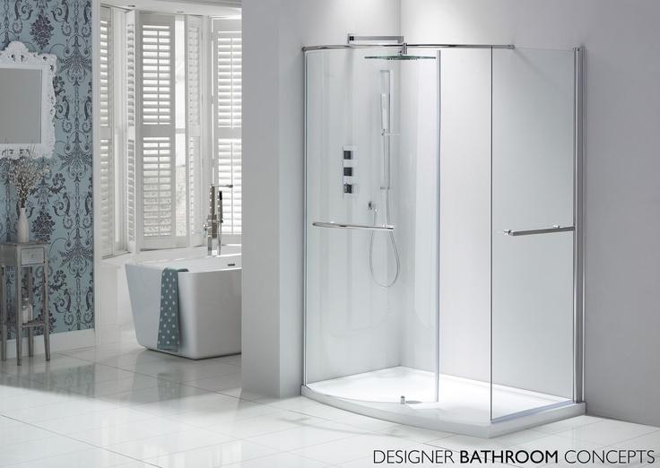 Aquaglass Closing Walk In Shower from DesignerBathroomConcepts com30 best Shower Enclosures images on Pinterest   Quadrant shower  . Walk In Tub With Shower Enclosure. Home Design Ideas