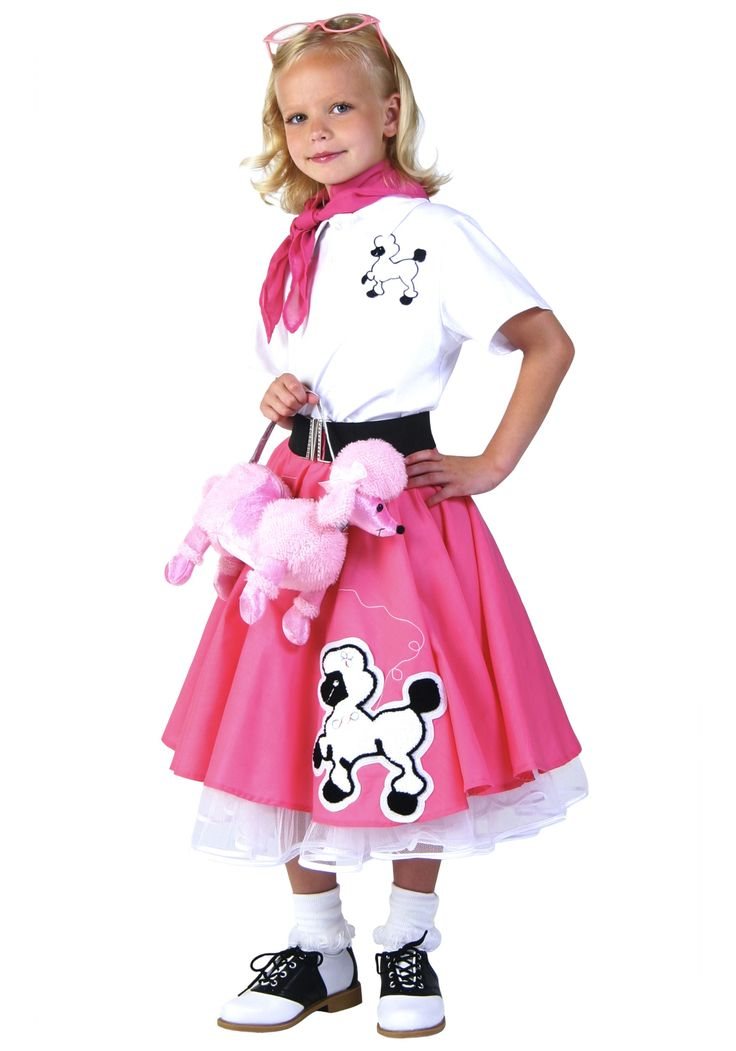 This Kids Deluxe Pink Poodle Skirt Costume Is