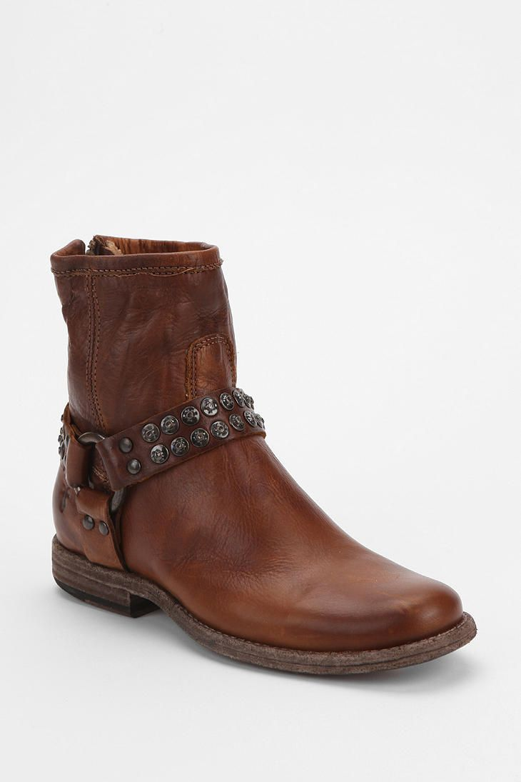 frye philip studded harness ankle boot boots boots