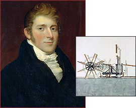 August 17, 1807 - Robert Fulton's steamboat, Clermont, made its debut going UP the Hudson river, and contributing to America's industrial revolution. Who Made America? | Innovators | Robert Fulton