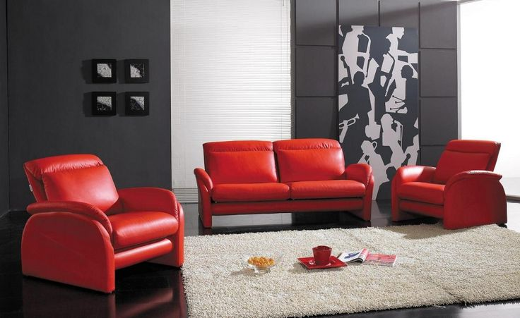 small red leather sofa - neutral interior paint colors Check more at http://www.freshtalknetwork.com/small-red-leather-sofa-neutral-interior-paint-colors/