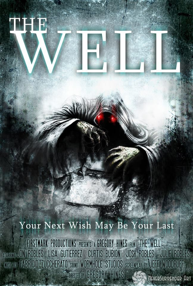"""Poster for """"The Well"""", of Gregory Hines. Commissioned by FirstMark Productions for the Short Horror Film Contest in California."""