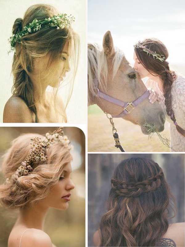 coiffure pour le mariage bohême