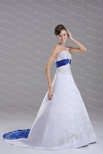 Бесплатная доставка one piece платье работа 1950-х годов petit Новый Фонда Свадебное платье горячие продажа нестандартного размера синий и белое пятно свадебные платья