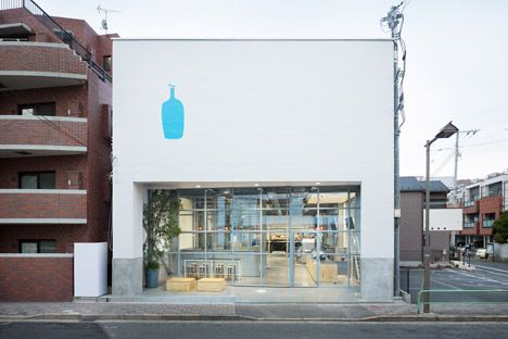 Schemata Architects inserts coffee shop and roastery into a Tokyo warehouse