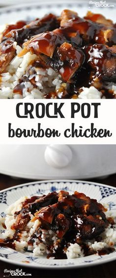 Crock Pot Bourbon Chicken is easy. Added cornstarch to liquid in sauce pan to make a glaze after.