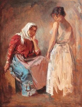 Gypsy Women Talking - Nicolae Vermont