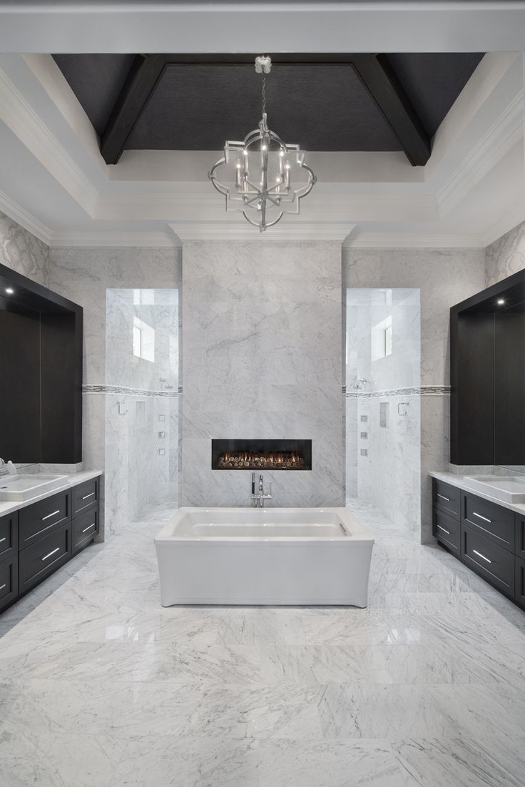 #kbtribechat Oh to have enough space for this luxurious bath! #pinterest Tap the link now to see where the world's leading interior designers purchase their beautifully crafted, hand picked kitchen, bath and bar and prep faucets to outfit their unique designs.