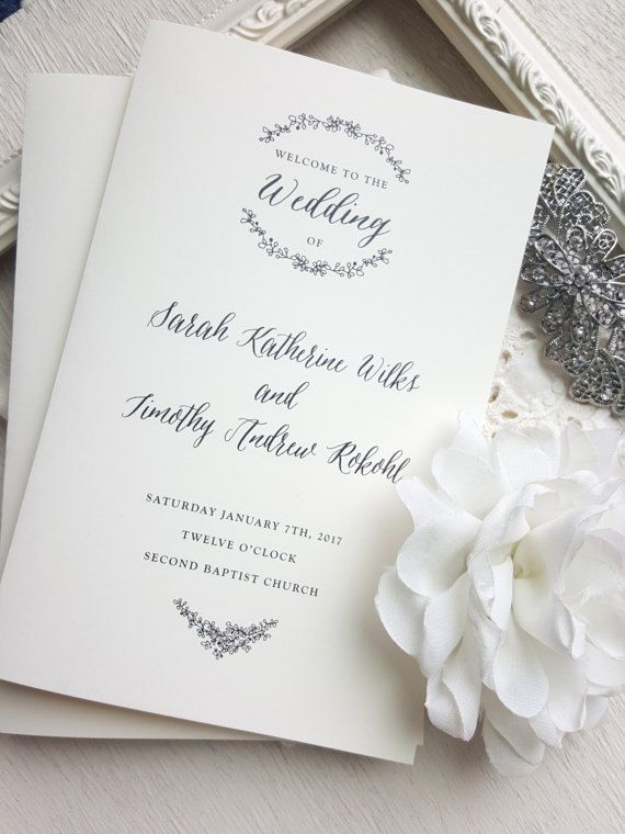 75 best WEDDING PROGRAMS images on Pinterest Blush pink