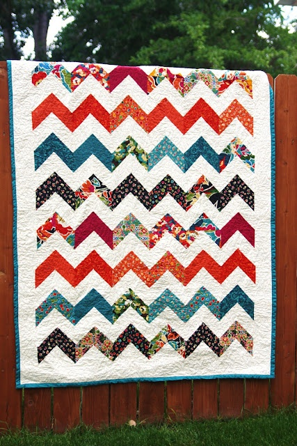 chevron quilt Mom? Wanna make us one? <3